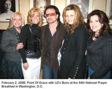 Point of Grace with Bono